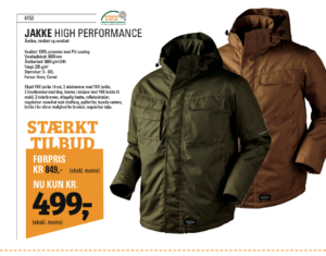 High performance jakker tilbud
