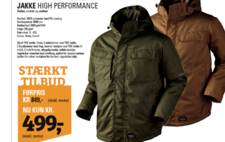 High performance jakke tilbud