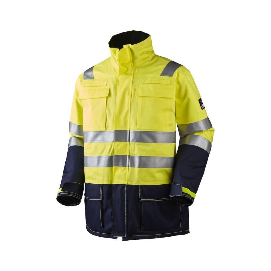 Hi-Vis, antistatisk og antiflame parka jakke